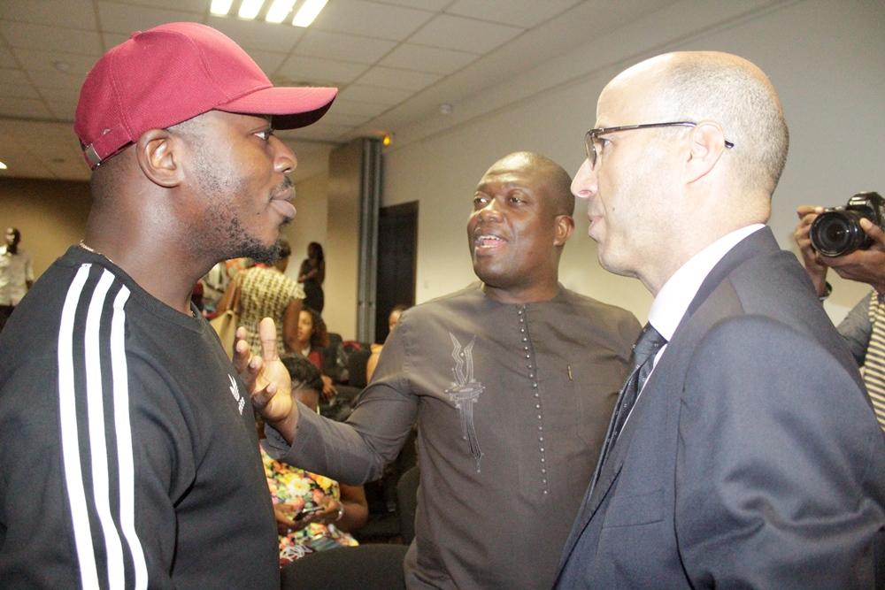 Le Directeur Général de Moov Togo et Master Just du groupe Toofan