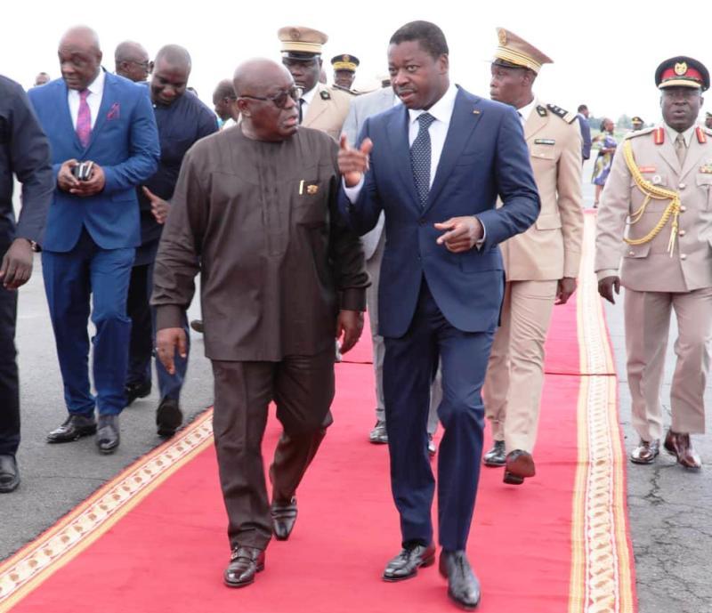 Electrification, Togo, EDF, France, BBox, Plan national de développement, postes de contrôle juxtaposés, Noepe, Nana Akufo Addo, Faure Gnassingbé
