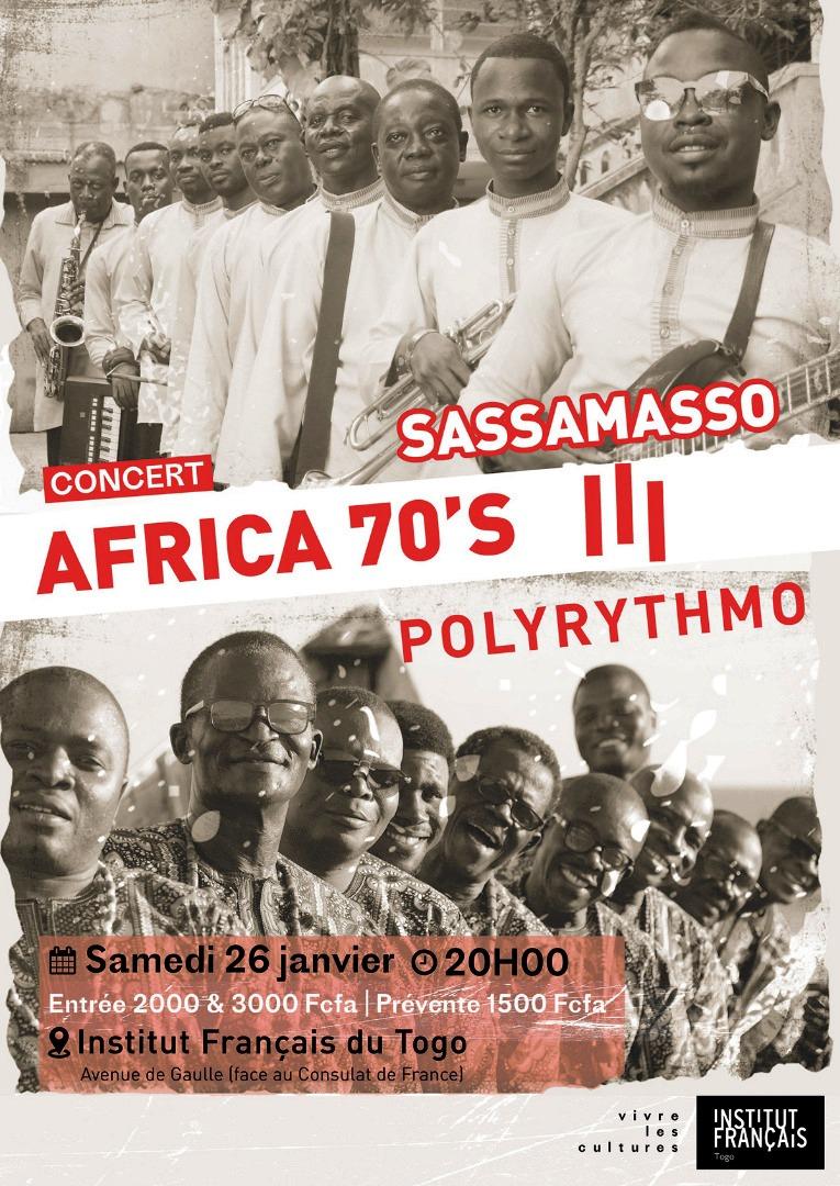 in-Togo-Togo : les orchestres Sassamasso & Polyrythmo en concert live ce samedi à l'institut français orchestres Sassamasso & Polyrythmo en concert live ce samedi à l'institut français